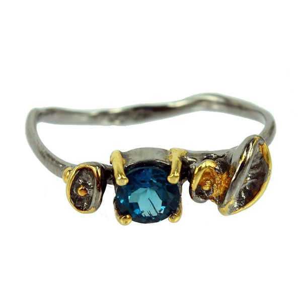 Stacking London Blue Topaz Ring-Rings-AdiOre Jewels