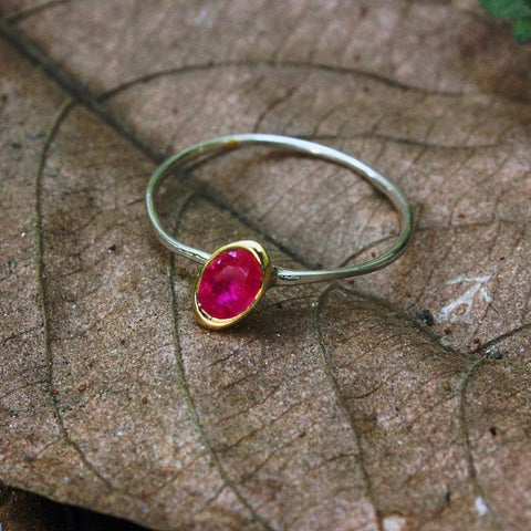 Stacking Ruby Ring-Rings-AdiOre Jewels
