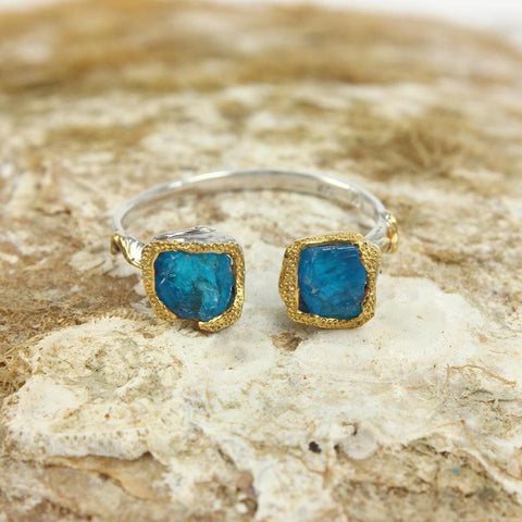 Stacking Rough Apatite Ring-Rings-AdiOre Jewels