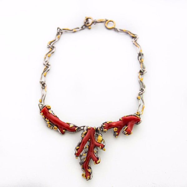 One Of A Kind Aqua Croatian Coral Necklace