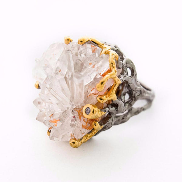 One Of A Kind Tierra Crystal Ring-Rings-AdiOre Jewels