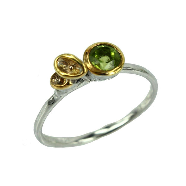 Stacking Peridot Ring-Rings-AdiOre Jewels