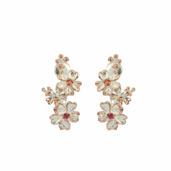 Fern & Leaf Flemma Rojo Earrings-Earrings-AdiOre Jewels