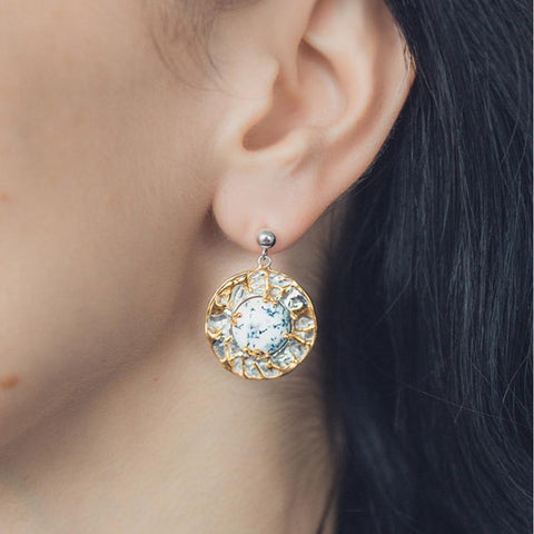 Alice Tierra Earring-Earrings-AdiOre Jewels