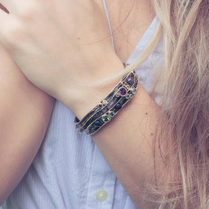 Alice Mezclado Bangle-Bangles-AdiOre Jewels