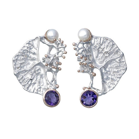 Alice Flemma Lila Earring-Earrings-AdiOre Jewels