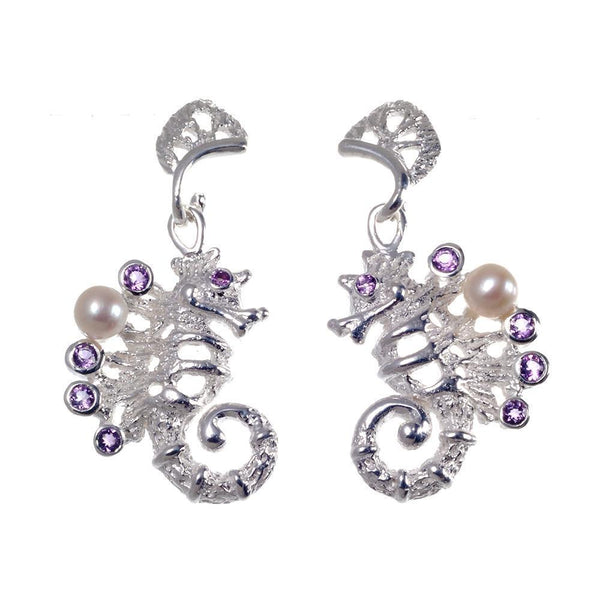 Aqua Flemma Morado Earrings-Earrings-AdiOre Jewels