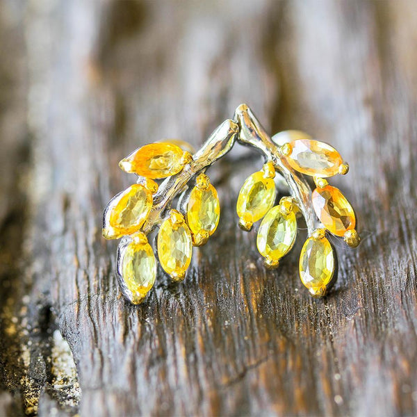 Classic Flemma Amarillo Earrings-Earrings-AdiOre Jewels