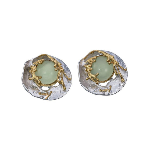 Alice Flemma Verde Earring-Earrings-AdiOre Jewels