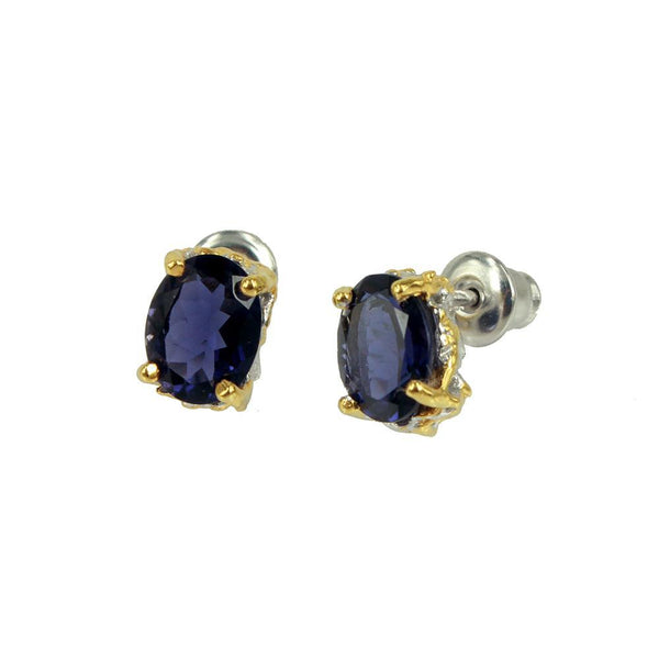 Classic Flemma Azul Earrings-Earrings-AdiOre Jewels