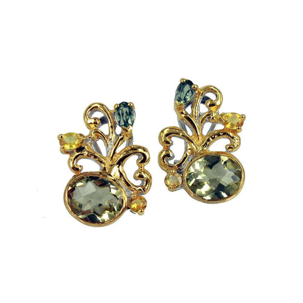 Alice Flemma Verde Earrings-Earrings-AdiOre Jewels