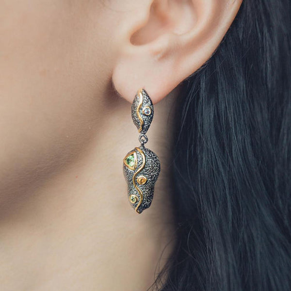 Alice Flemma Mezclado Earring-Earrings-AdiOre Jewels