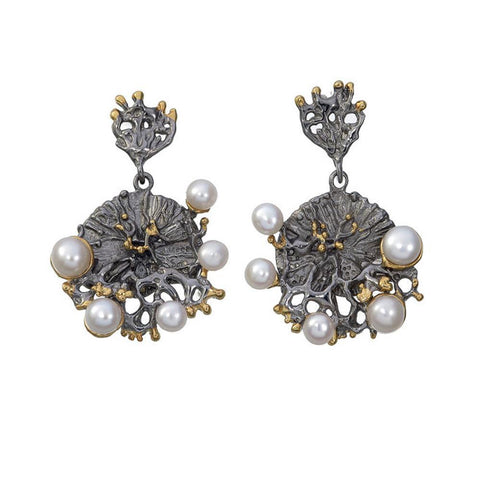 Aqua Tierra Perla Earrings-Earrings-AdiOre Jewels