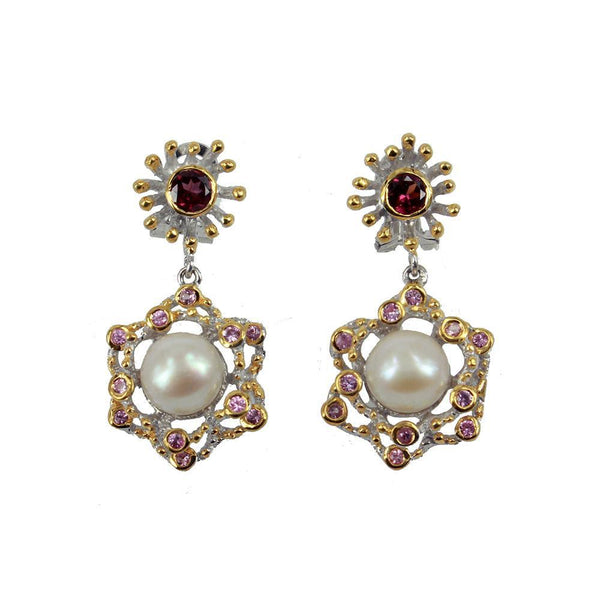 Alice Perla Rojo Earrings-Earrings-AdiOre Jewels