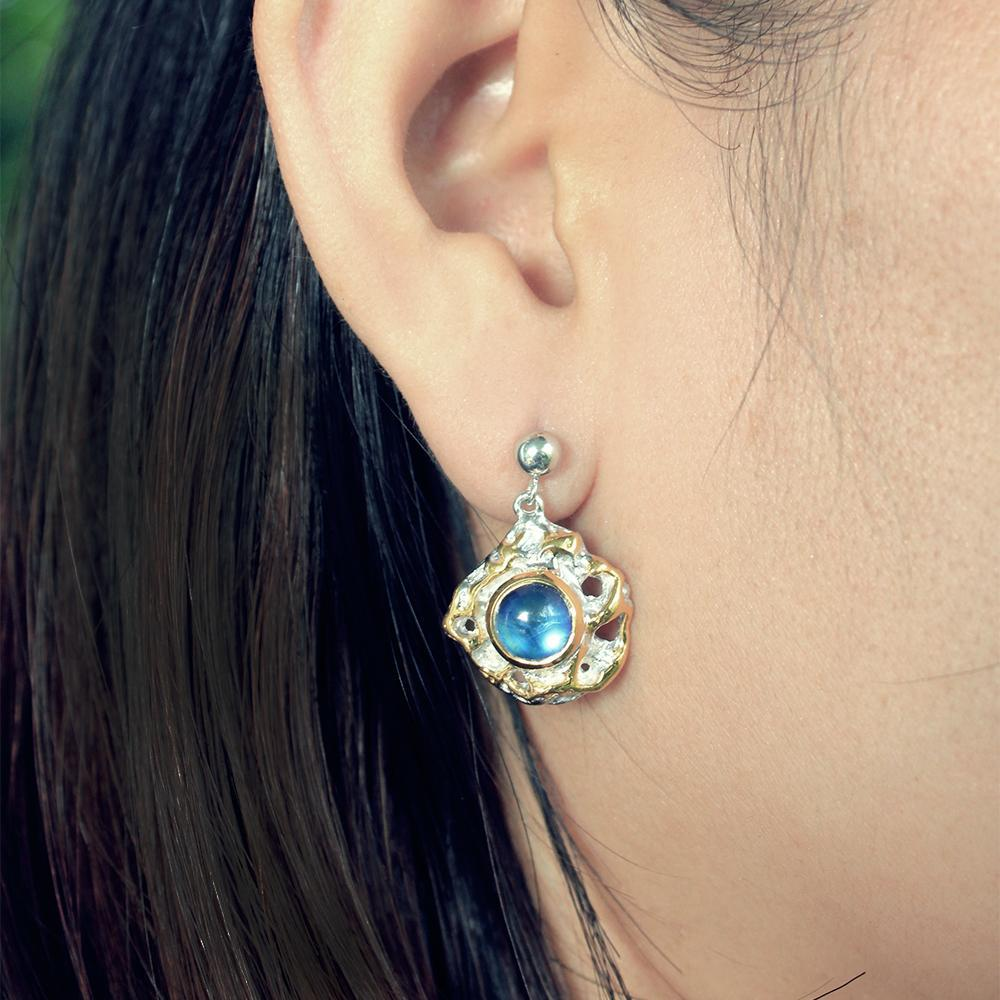Classic Tierra Azul Earrings-Earrings-AdiOre Jewels