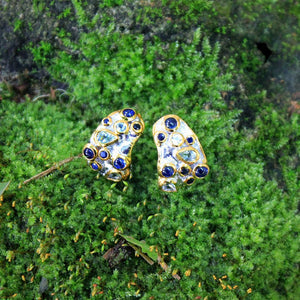 Alice Flemma Azul Earrings-Earrings-AdiOre Jewels