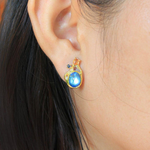 Alice Tierra Azul Earrings