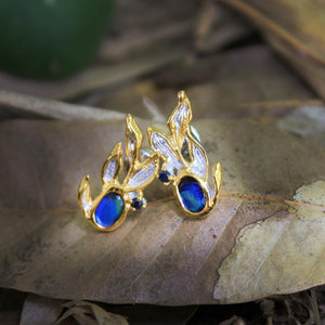 Fern & Leaf Tierra Azul Earrings