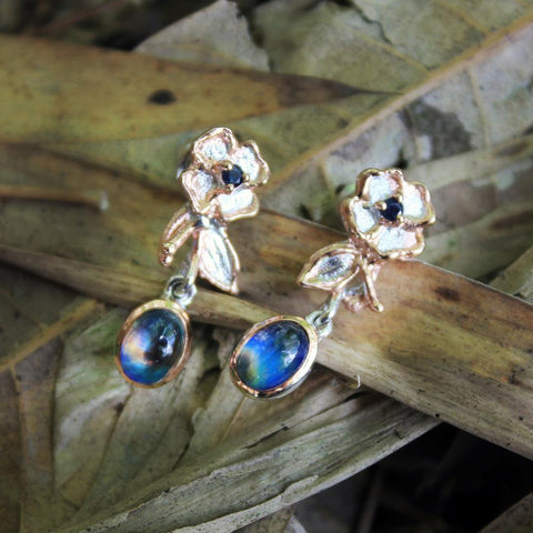 Fern And Leaf Tierra Azul Earrings-Earrings-AdiOre Jewels