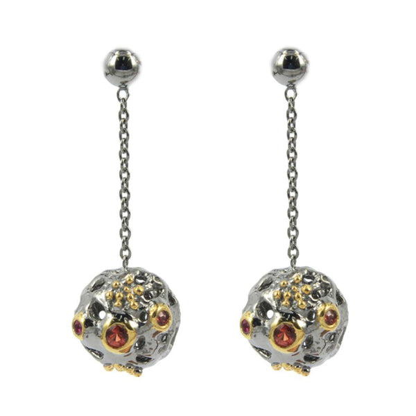 Alice Flemma Rojo Earrings-Earrings-AdiOre Jewels
