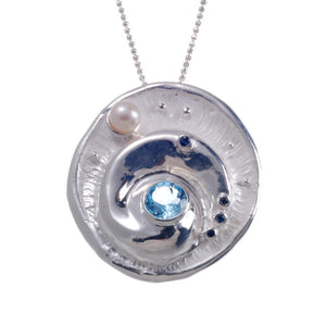 Alice Flemma Azul Pendant-Pendants-AdiOre Jewels