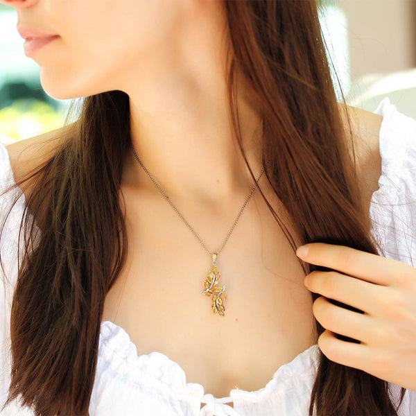 Classic Flemma Amarillo Necklace-Necklaces-AdiOre Jewels