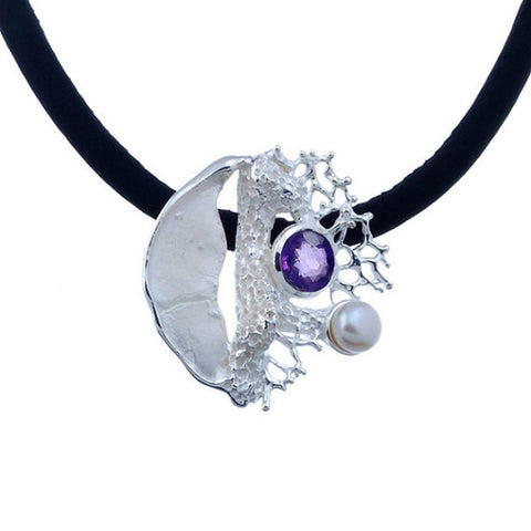 Alice Flemma Lila Pendant-Pendants-AdiOre Jewels