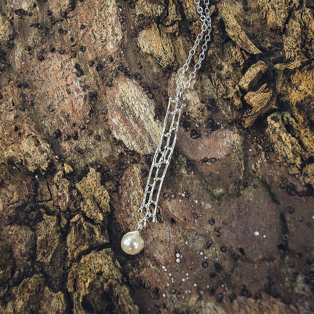 Aqua Tierra Perla Necklace-Necklaces-AdiOre Jewels