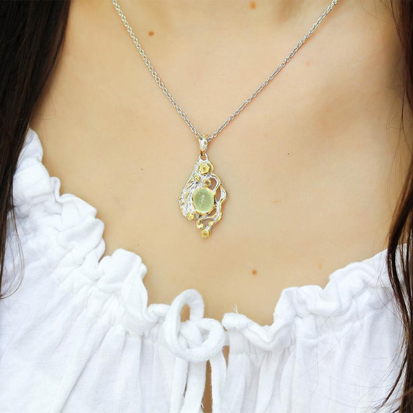 Alice Tierra Verde Necklace-Necklaces-AdiOre Jewels