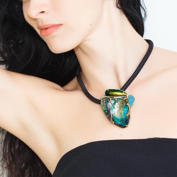 One Of A Kind Opal Necklace-Necklaces-AdiOre Jewels