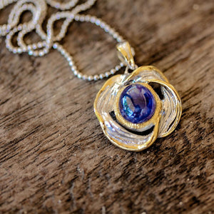 Alice Tierra Azul Necklace-Pendants-AdiOre Jewels