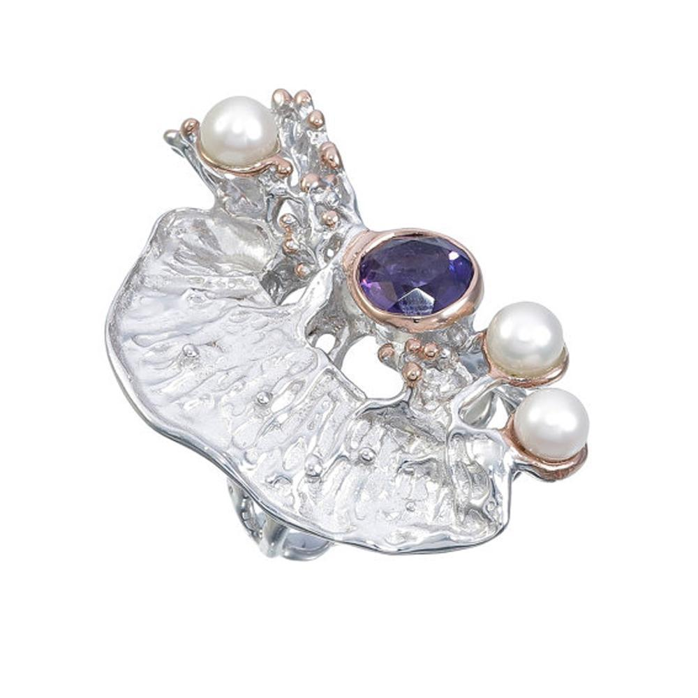 Alice Flemma Lila Ring-Rings-AdiOre Jewels