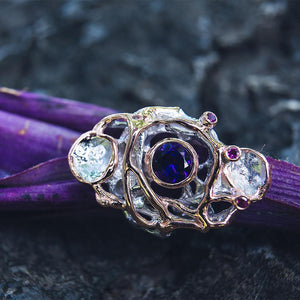Alice Flemma Morado Ring-Rings-AdiOre Jewels