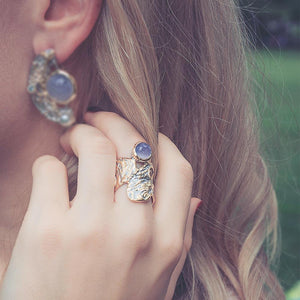 Alice Calcedonia Azul Ring-Rings-AdiOre Jewels