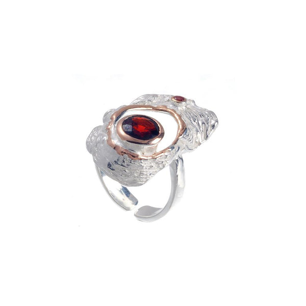 Classic Flemma Garnet Ring-Rings-AdiOre Jewels