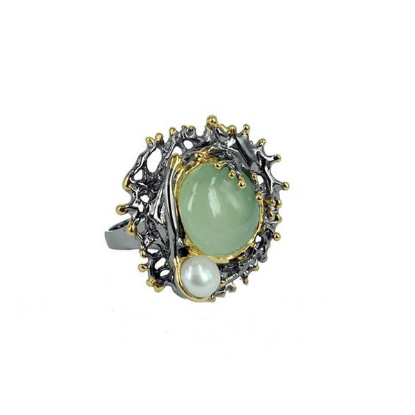 Coral Love Tierra Verde Ring-Rings-AdiOre Jewels