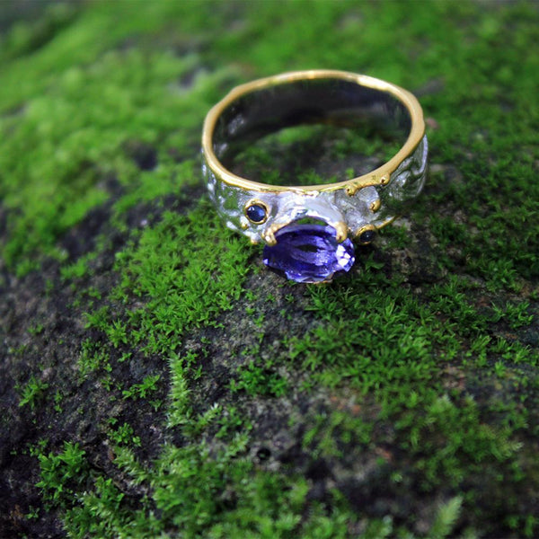 Classic Flemma Azul Ring-Rings-AdiOre Jewels