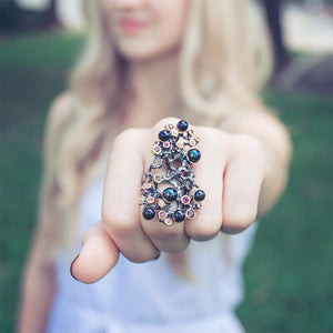 Alice Tierra Mezclado Ring-Rings-AdiOre Jewels