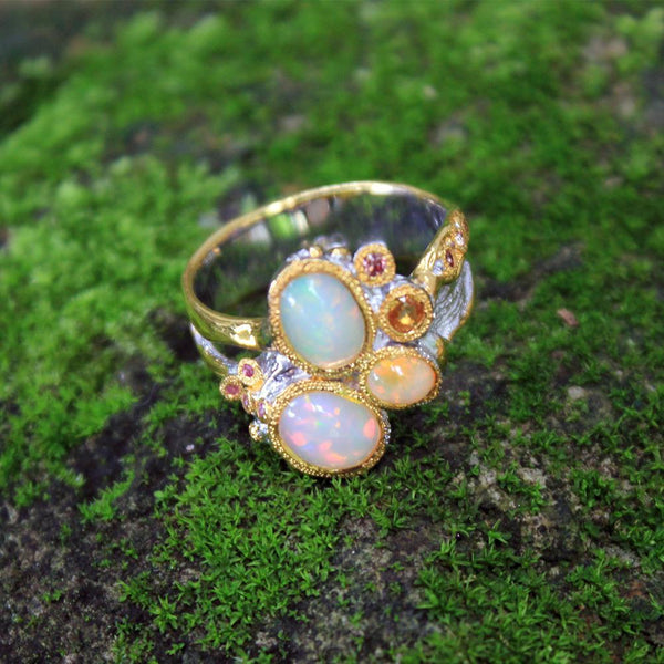 Opal Magic Ring-Rings-AdiOre Jewels