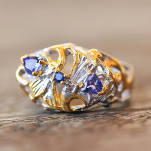 Alice Flemma Azul Ring-Rings-AdiOre Jewels