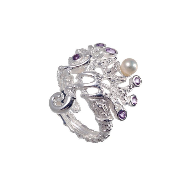 Aqua Flemma Morado Ring-Rings-AdiOre Jewels