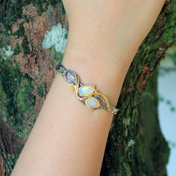 Opal Magic Flemma Mezclado Bangle-Bangles-AdiOre Jewels