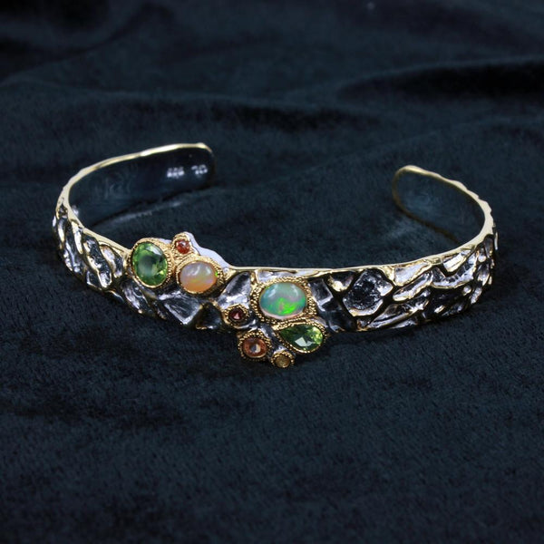 Opal Magic Mezclado Bangle-Bangles-AdiOre Jewels