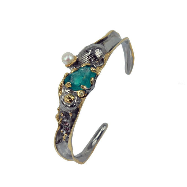 Aqua Tierra Azul Bangle-Bangles-AdiOre Jewels