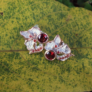 Fern And Leaf Flemma Rojo Earring-Earrings-AdiOre Jewels