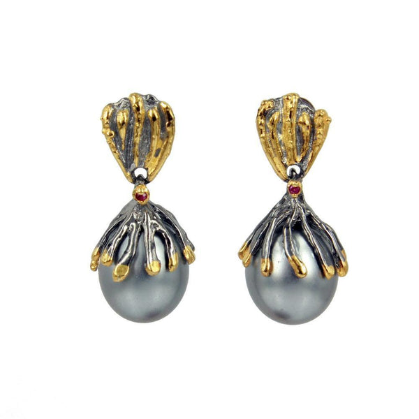 Aqua Perla Earring-Earrings-AdiOre Jewels