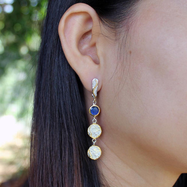 Classic Flemma Azul Earring-Earrings-AdiOre Jewels