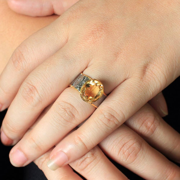 Classic Flemma Amarillo Ring-Rings-AdiOre Jewels