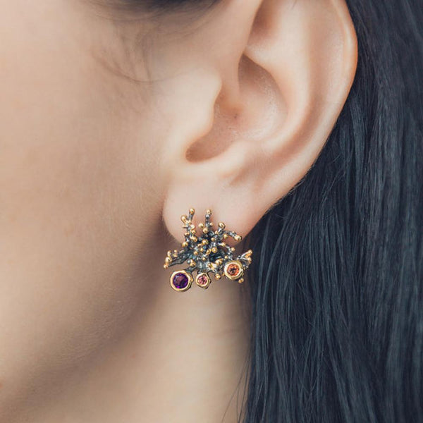 Coral Love Flemma Mezclado Earring-Earrings-AdiOre Jewels