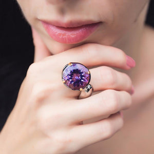 One Of A Kind Flemma Lila Ring-Rings-AdiOre Jewels